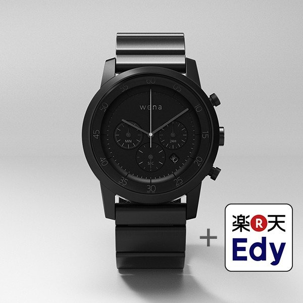 楽天Edy初期設定代行サービス付き wena wrist -Chronograph Premium Black-|firstflight