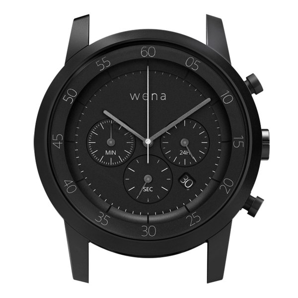 wena wrist用 Chronograph Premium Black Head|firstflight|01
