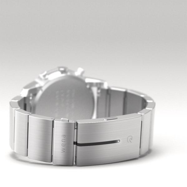 楽天Edy初期設定代行サービス付き wena wrist -Chronograph Silver-|firstflight|02