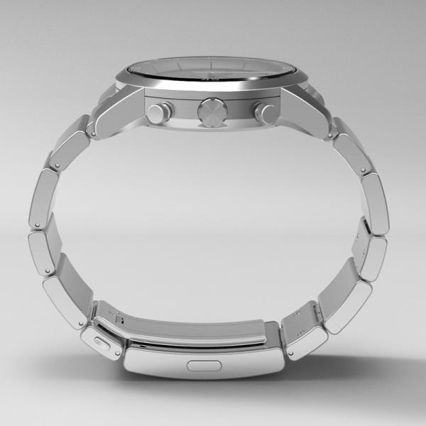 楽天Edy初期設定代行サービス付き wena wrist -Chronograph Silver-|firstflight|03
