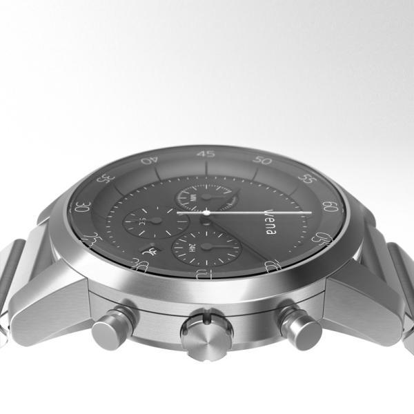 楽天Edy初期設定代行サービス付き wena wrist -Chronograph Silver-|firstflight|04
