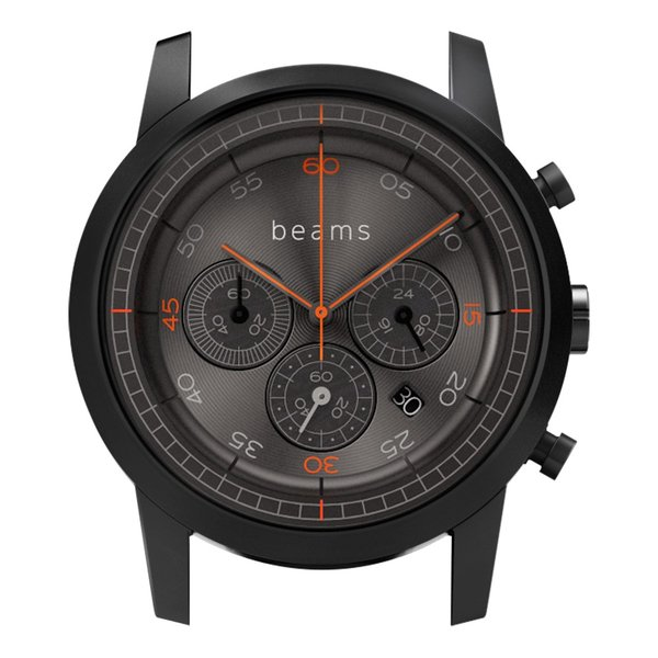 wena wrist Chronograph Premium Black BD -beams edition- Head|firstflight|01