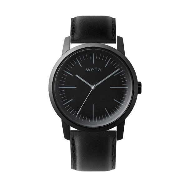 Three Hands Premium Black + wena wrist leather 22mm Black|firstflight