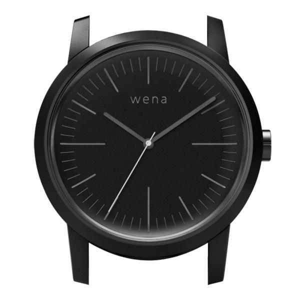 wena wrist用 Three Hands Premium Black Head|firstflight