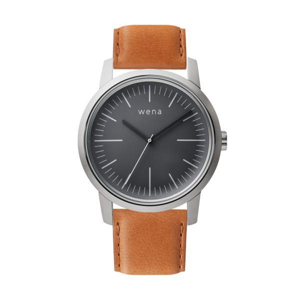 Three Hands Silver + wena wrist leather 22mm Tawny Brown|firstflight