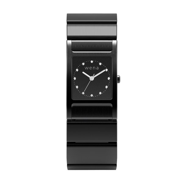 wena wrist Three Hands Square Premium Black|firstflight