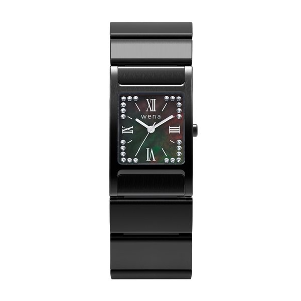 wena wrist Three Hands Square Premium Black -Crystal Edition-|firstflight|02