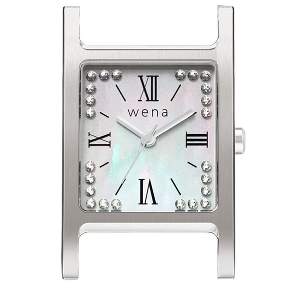 wena wrist Three Hands Square Silver -Crystal Edition- Head|firstflight