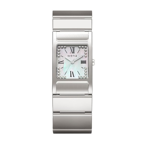 wena wrist Three Hands Square Silver -Crystal Edition-|firstflight|02