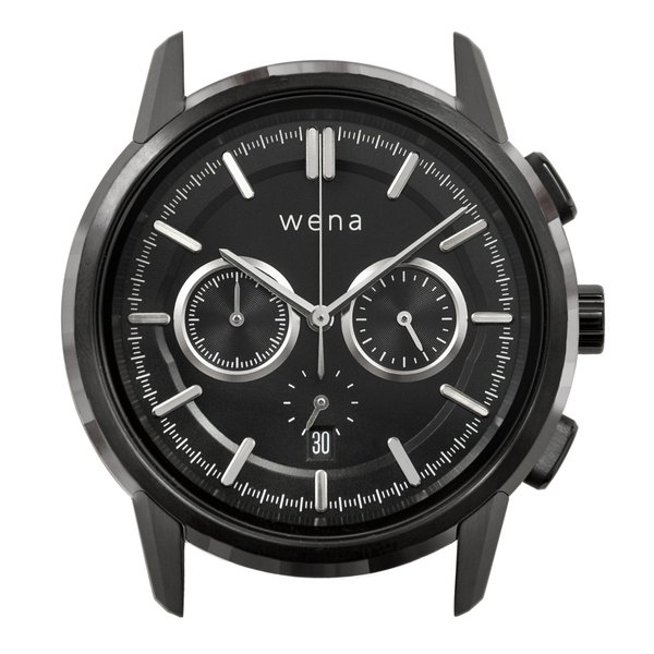 wena wrist Chronograph Classic Premium Black head|firstflight|01