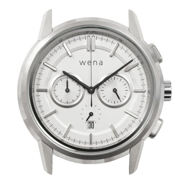wena wrist Chronograph Classic White head|firstflight