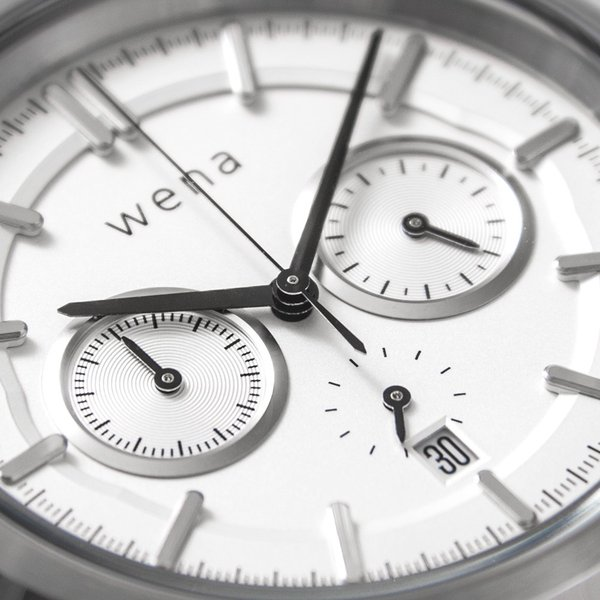 wena wrist Chronograph Classic White head|firstflight|04