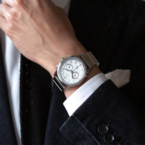 wena wrist Chronograph Classic White head|firstflight|05