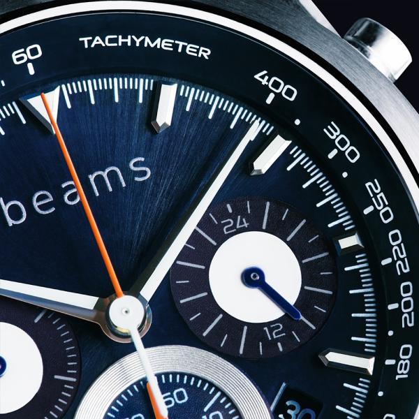 wena wrist Chronograph Solar Silver -beams edition-|firstflight|04