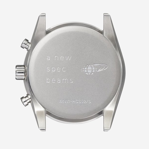 wena wrist Chronograph Solar Silver -beams edition-|firstflight|05
