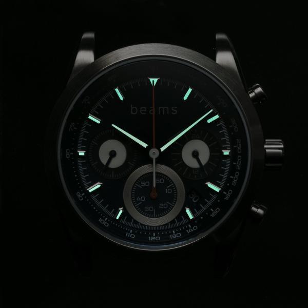 wena wrist Chronograph Solar Silver -beams edition-|firstflight|06