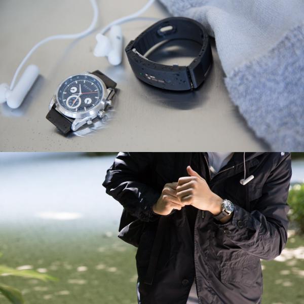 wena wrist Chronograph Solar Silver -beams edition-|firstflight|09