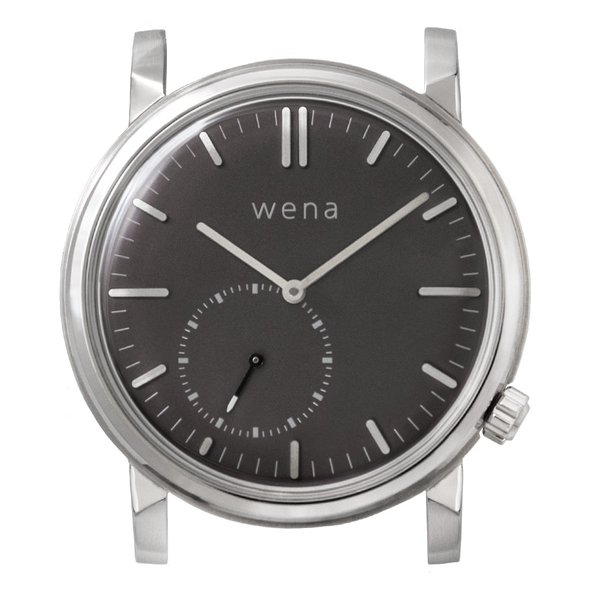 wena wrist Three Hands Retro Silver head|firstflight
