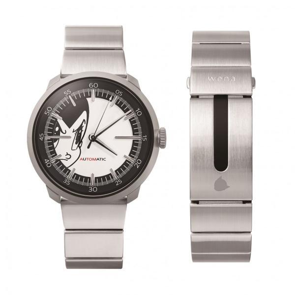 wena wrist Three Hands Mechanical Silver ATOM Edition|firstflight|02