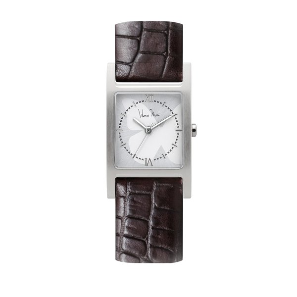 wena wrist Three Hands Square Brown Croco Hanae Mori manuscrit Edition|firstflight