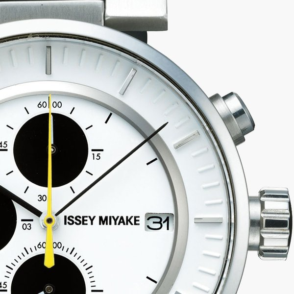 wena wrist leather Chronograph set Black -ISSEY MIYAKE Edition-|firstflight|04