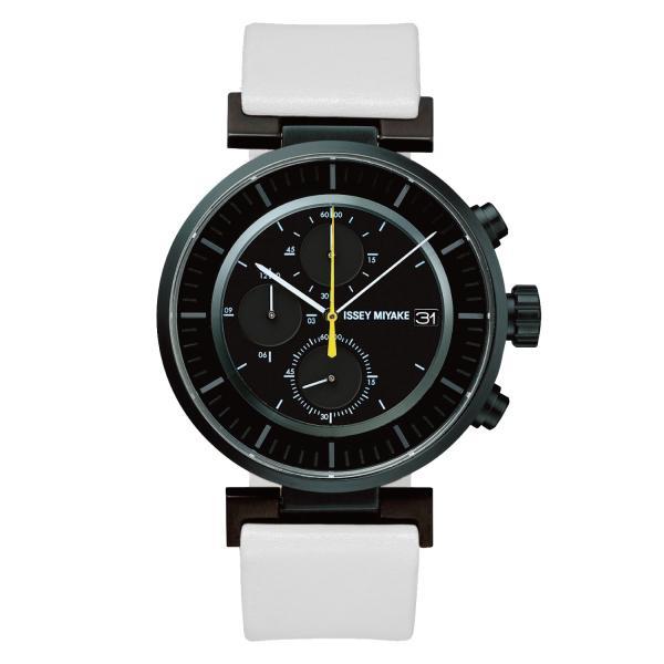 wena wrist leather Chronograph set White -ISSEY MIYAKE Edition- firstflight