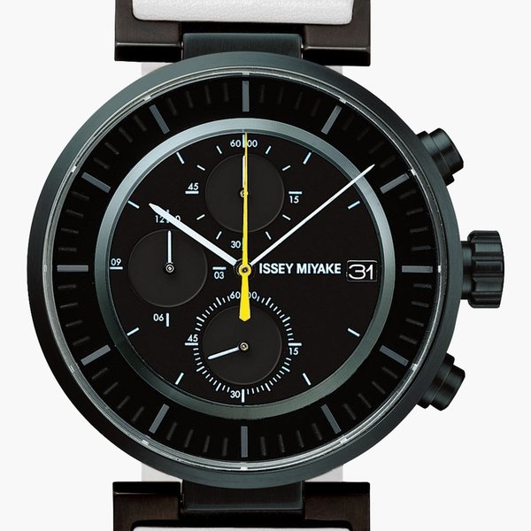 wena wrist leather Chronograph set White -ISSEY MIYAKE Edition- firstflight 03