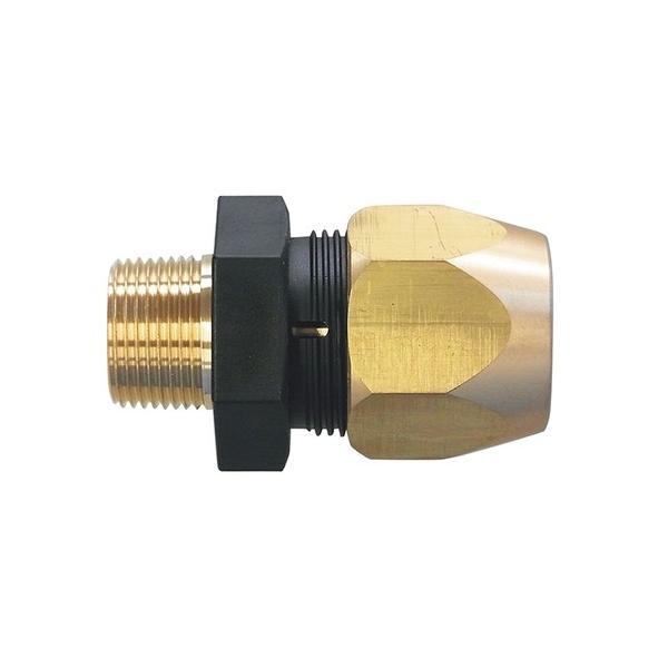 アズワン 耐圧ホース用継手 スマートロック(真鍮タイプ) 10A 3/8 1個 [3-9386-04]