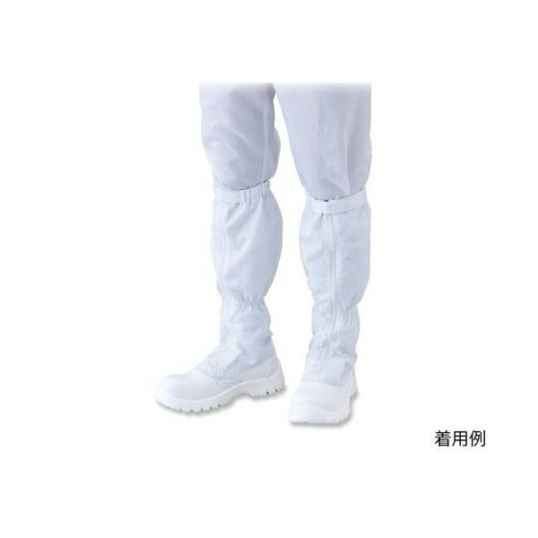 アズワン アズピュアクリーン安全靴(ファスナー付きロングタイプ・クリーン洗浄)30cm  1足 [4-2919-13]