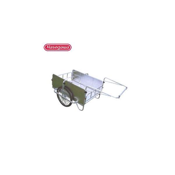 長谷川工業 アルミ製 折りたたみ式リヤカー コンパック HC-1208NA [個人宅配送不可]