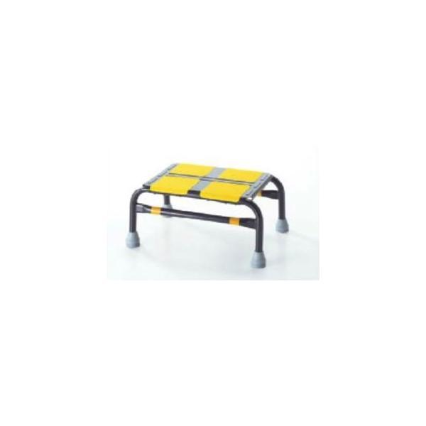 緑十字 踏み台 車昇降用踏み台ステップ-2 カラー:ブラック サイズ:幅440x奥行310x高さ200mm