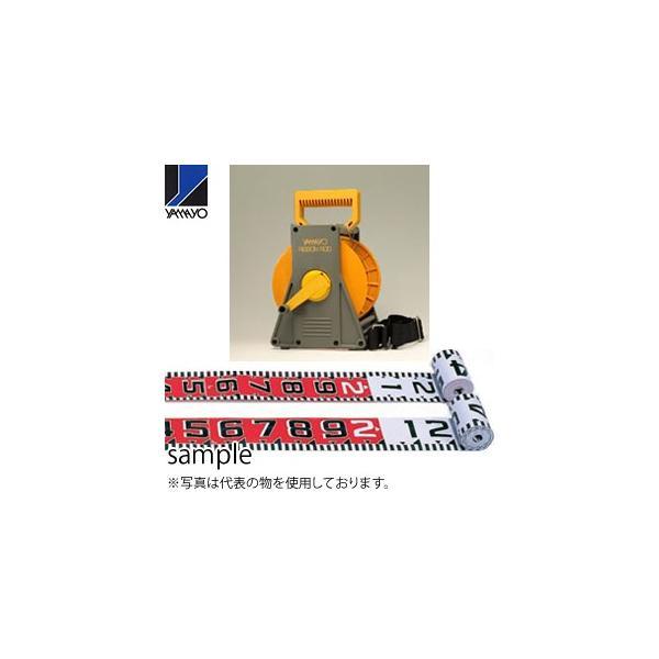 ヤマヨ測定器 リボンロッド両サイド150E1 ケース入 R15A30M 30m 遠距離用現場記録写真用巻尺
