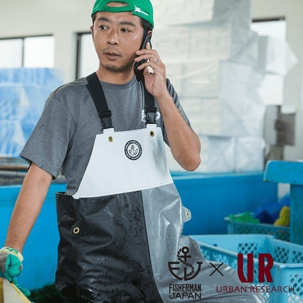 FISHERMAN JAPAN × URBAN RESEARCH サロペットパンツ/漁師ウェア/マリンウェア/漁師合羽/水産合羽|fishermanjapan