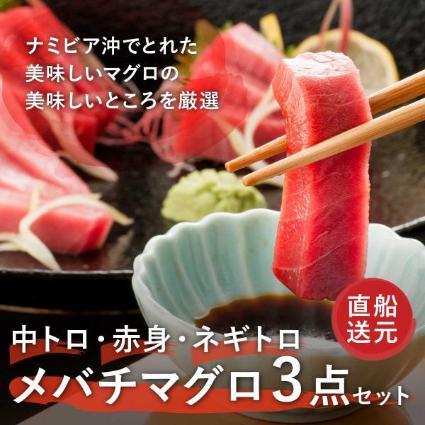 気仙沼昭福丸極上天然メバチマグロ3種セット