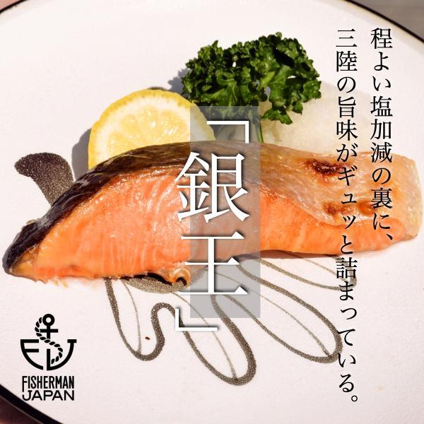 銀鮭の王様、「銀王」・切り身セット/塩銀鮭切り身/10パック