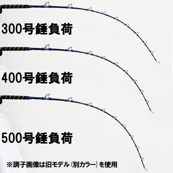 オリジナルデカ当て付き スタンディング専用ロッド 2代目クロス総糸巻 リアルワンST (スタンディング) Gokuinfinity 170-500号BK (デカ当付き) (100102s)
