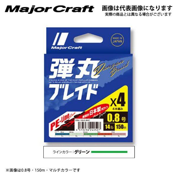 メジャークラフト 弾丸ブレイドX4 150m 1.2号 グリーン