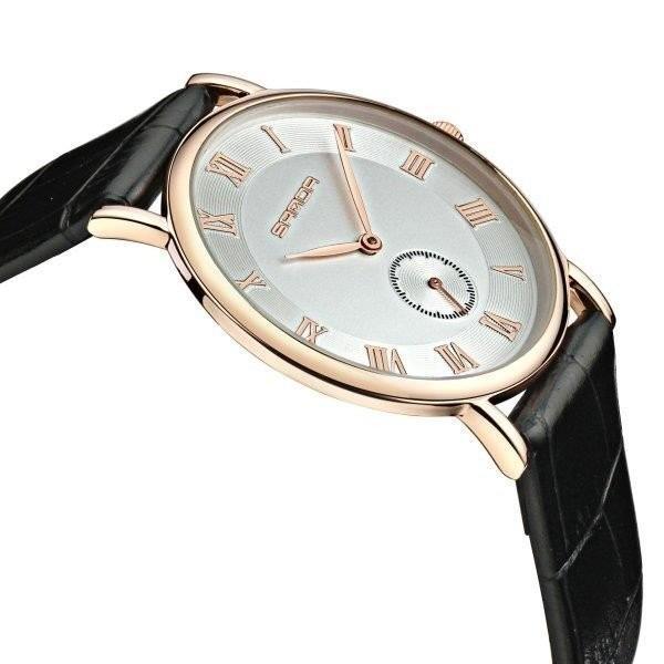腕時計 メンズ ユニセックス ペア ウォッチ シンプル メタルバンド ビッグフェイス シルバー 防水 アクセサリー|fit-001|02