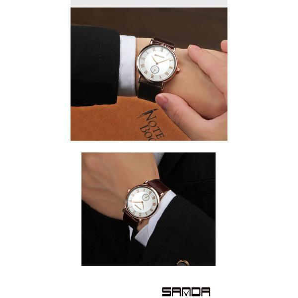 腕時計 メンズ ユニセックス ペア ウォッチ シンプル メタルバンド ビッグフェイス シルバー 防水 アクセサリー|fit-001|12