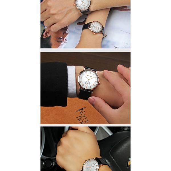 腕時計 メンズ ユニセックス ペア ウォッチ シンプル メタルバンド ビッグフェイス シルバー 防水 アクセサリー|fit-001|15