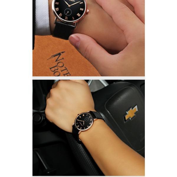 腕時計 メンズ ユニセックス ペア ウォッチ シンプル メタルバンド ビッグフェイス シルバー 防水 アクセサリー|fit-001|17