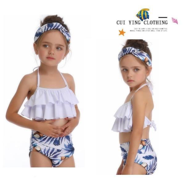 キッズみずぎ セパレート スイムウェア みずぎ 2点セット 女の子 温泉 子供用 ビーチ プール 海 可愛い 水着 オシャレ セパレート水着 fit-001 17