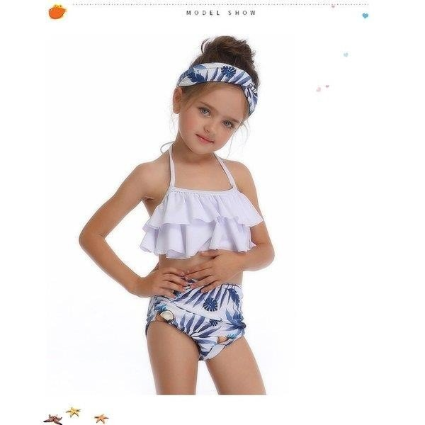 キッズみずぎ セパレート スイムウェア みずぎ 2点セット 女の子 温泉 子供用 ビーチ プール 海 可愛い 水着 オシャレ セパレート水着 fit-001 06