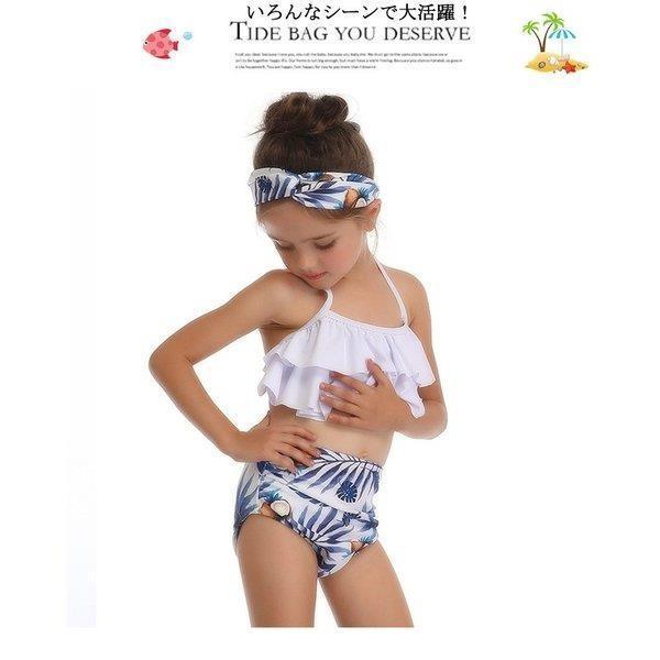 キッズみずぎ セパレート スイムウェア みずぎ 2点セット 女の子 温泉 子供用 ビーチ プール 海 可愛い 水着 オシャレ セパレート水着 fit-001 09