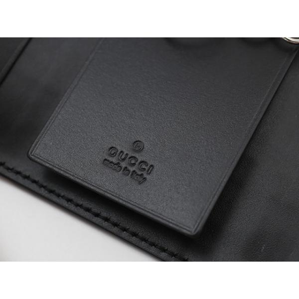98016589b00e ... グッチ【GUCCI】キーケース 256433CWD2N 1000 MISTRAL レザー6連キーケース メンズ ブラック