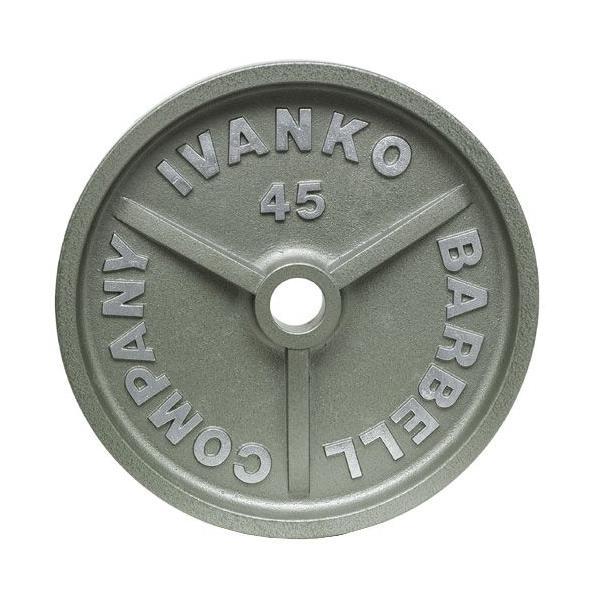【Φ50mmバーベルプレート】IVANKO(イヴァンコ)OMK オリンピックペイントプレート 1.25kg(リーズナブルな50mmプレート)