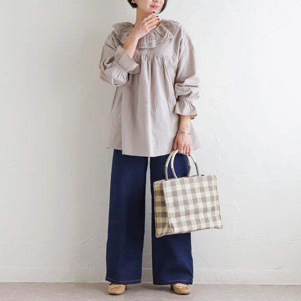 パンツ デニムワイドパンツ レディース ファッション 春夏 ワイドパンツ デニム 美脚 脚長 ブルー ネイビー 大きいサイズ|fitpromotion|16