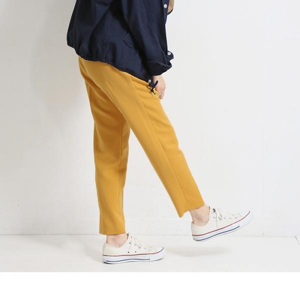 テーパードパンツ センタープレステーパードパンツ レディース ファッション テーパードパンツ XS S M L LL 3L|fitpromotion|15