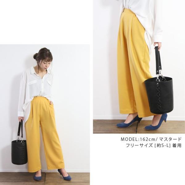 パンツ やわらか美ラインワイドパンツ(N) レディース ファッション 春夏 ワイドパンツ 美脚 XS S M L LL 3L メール便可 2018SS|fitpromotion|11