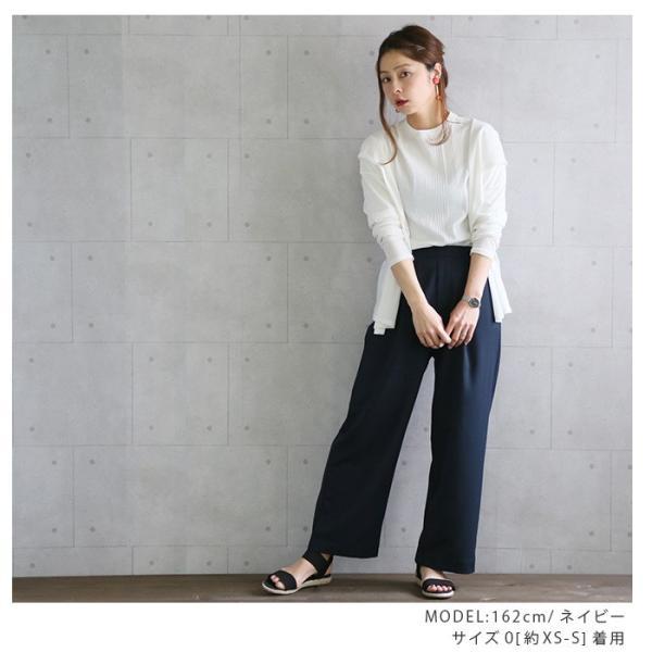 パンツ やわらか美ラインワイドパンツ(N) レディース ファッション 春夏 ワイドパンツ 美脚 XS S M L LL 3L メール便可 2018SS|fitpromotion|12